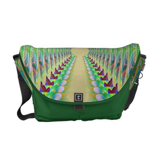 Lace Me Up Green Rickshaw Messenger Bag