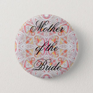 lace, Mother of the Bride Pinback Button