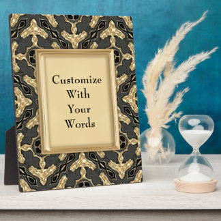 Lace Motif in Gold Display Plaque