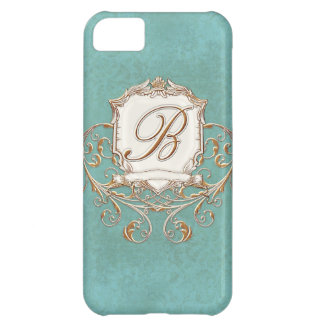 Lace Parchment Baroque Swirl Monogrammed Initial B iPhone 5C Case
