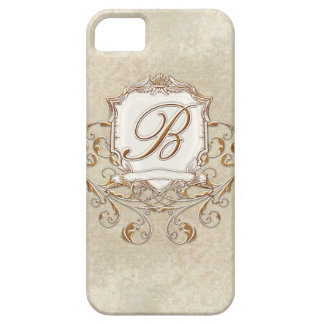 Lace Parchment Baroque Swirl Monogrammed Initial B iPhone SE/5/5s Case
