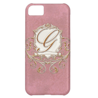 Lace Parchment Baroque Swirl Monogrammed Initial G iPhone 5C Cover