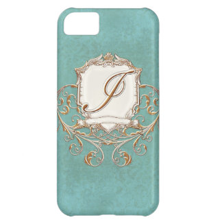 Lace Parchment Baroque Swirl Monogrammed Initial I iPhone 5C Cover
