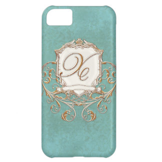 Lace Parchment Baroque Swirl Monogrammed Initial X iPhone 5C Case