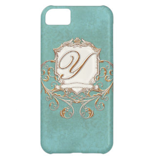 Lace Parchment Baroque Swirl Monogrammed Initial Y iPhone 5C Case