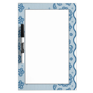 Lace pattern, flower vintage 2 Dry-Erase board