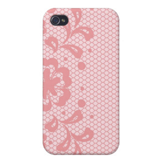Lace pattern, flower vintage 3 iPhone 4 cover