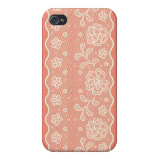 Lace pattern, flower vintage 4 cover for iPhone 4