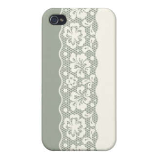 Lace pattern, flower vintage 5 case for iPhone 4
