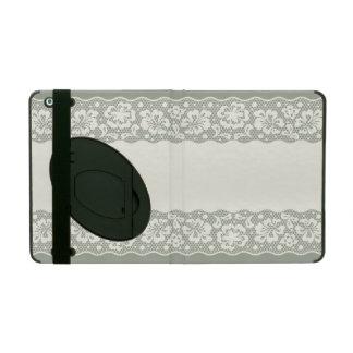 Lace pattern, flower vintage 5 iPad folio case