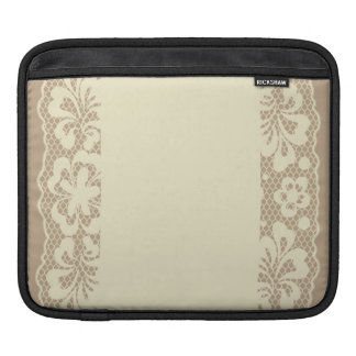 Lace pattern, flower vintage 7 iPad sleeve