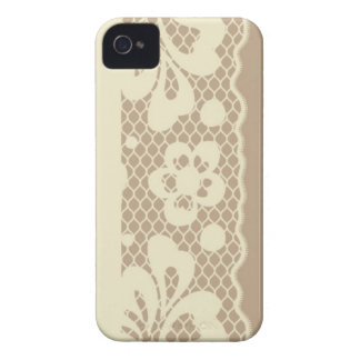 Lace pattern, flower vintage 7 iPhone 4 cover