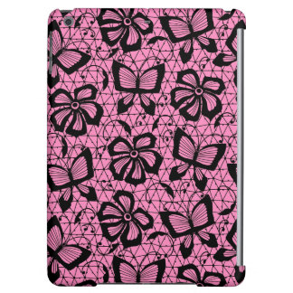 lace pattern with butterflies cover for iPad air