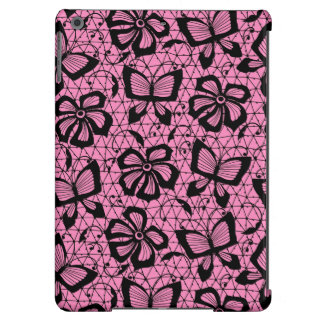 lace pattern with butterflies iPad air case