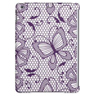 Lace pattern with butterflies iPad air cases