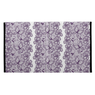 Lace pattern with butterflies iPad folio case