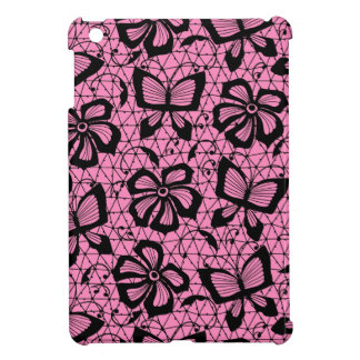 lace pattern with butterflies iPad mini cases