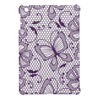 Lace pattern with butterflies iPad mini covers