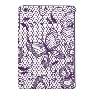 Lace pattern with butterflies iPad mini retina cover