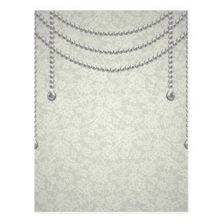 Lace & pearls,elegant,chic, girly,trendy,vintage postcard