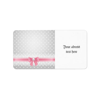 Lace,pearls,silver,white,girly,trendy,vintage,chic Address Label