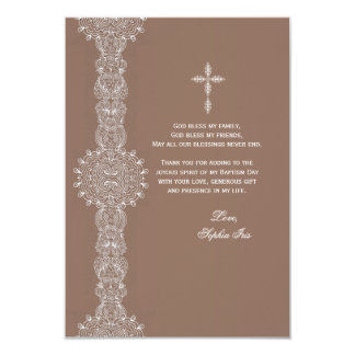Lace Pillar Thank You Note 3.5x5 Paper Invitation Card