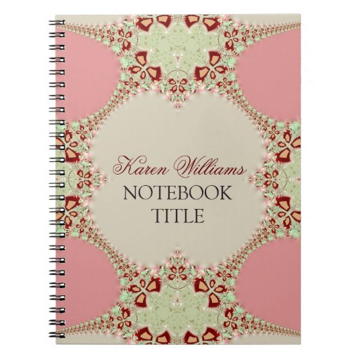 Lace Pink Pastel Notebook