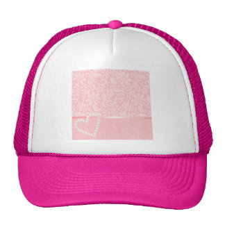 lace,pink,pearls,heart,girly,cute,trendy,cute,fun trucker hat