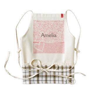 lace,pink,pearls,heart,girly,cute,trendy,cute,fun, zazzle HEART apron