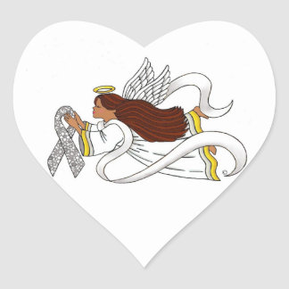 """Lace Ribbon"" Ethnic Awareness Angel Sticker"