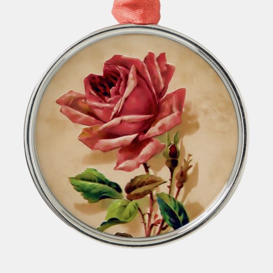 Lace Rose Metal Ornament