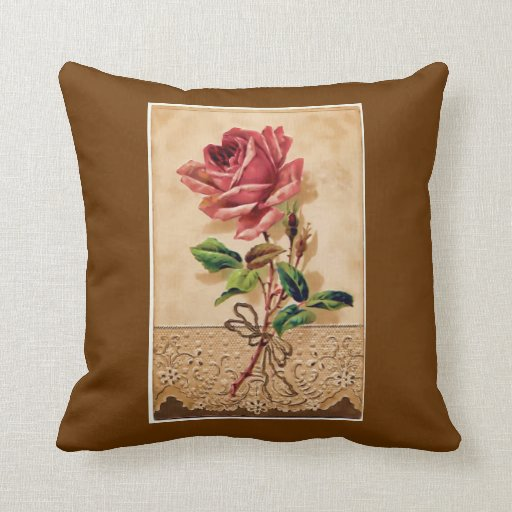 Lace Rose Throw Pillow Zazzle