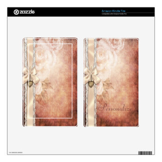 Lace, Roses & Heart Scrapbooking Kindle Skin