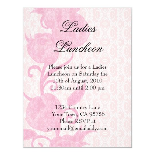 lace roses ladies luncheon party invitation zazzle com