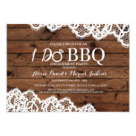 Lace Rustic Wood I DO BBQ Engagement Party Invite
