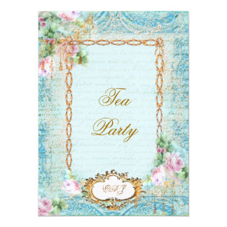 Lace Scrolls & Tassels Invite