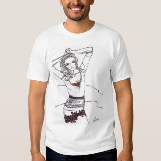 lace skirt fashion illustration t-shirt