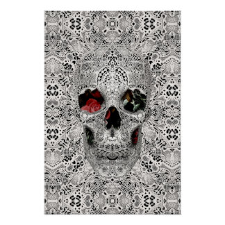 Lace Skull 2 Poster