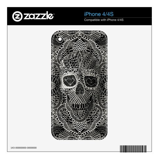 Lace Skull iPhone 4S Skins