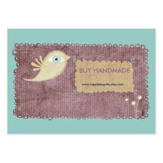 Lace stitched berry gold bird flower custom design business card template
