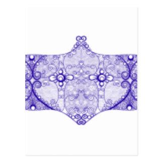 Lace strip Blue Postcard