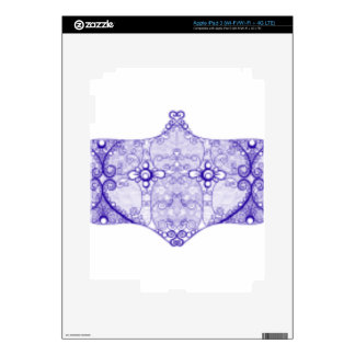 Lace strip Blue Skins For iPad 3