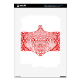 Lace Strip Bright Red Decal For iPad 3