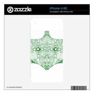 Lace Strip Green Decal For iPhone 4S