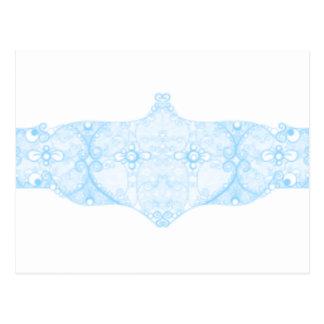 Lace Strip Light Blue Postcard