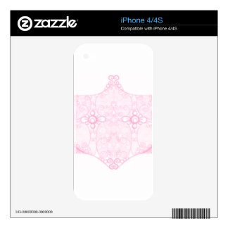 Lace Strip Pale Pink Decals For The iPhone 4S