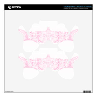 Lace Strip Pale Pink PS3 Controller Decal