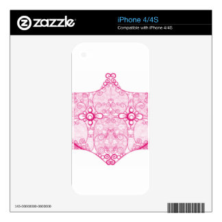 Lace Strip Pink Decals For iPhone 4