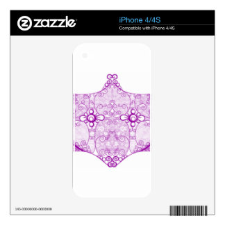 Lace Strip Purple Skin For iPhone 4S