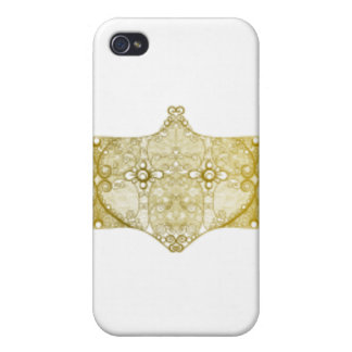 Lace Strip Yellow iPhone 4 Cover